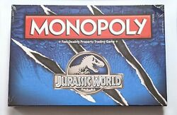 New Hasbro Jurassic World Monopoly Fast-dealing Property Trading Board Game