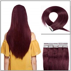 40 Pieces Tape In Hair Extensions 100g 16 18 20 22 Double Side Tape Seamless