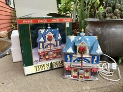 1995 Coca Cola Town Square Christmas Village Collection - Strand Theater