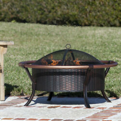 Copper Iron Outdoor Stove Rail Fire Pit