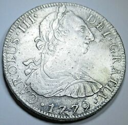 1779 Fame Shipwreck Spanish Mexico Silver 8 Reales 1700's Pirate Dollar Coin