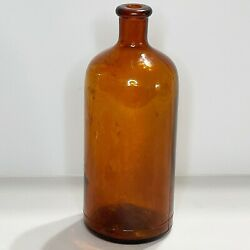 1925-1930 Illinois-pacific Glass Corp Clorox 18oz Amber Bottle Ipg