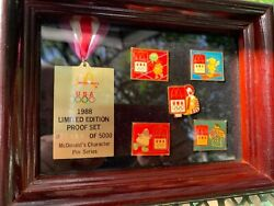 Mcdonalds Olympics 1988 Limited Edition Proof Set Pins 489 Of 5000
