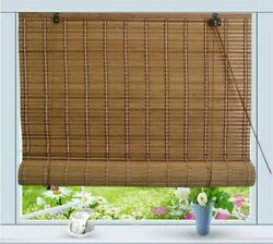 Asian Home Bamboo Roll Up Window Blind Sun Shade W30 X H72 Can Be Used Outdoors