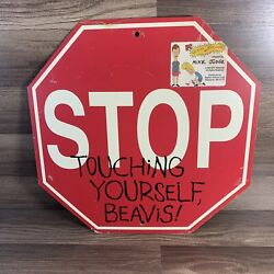 Beavis And Butthead 1996 Metal Stop Sign-stop Touching