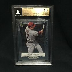 Mike Trout Angels Mvp 2012 Panini Prizm First Rookie 50 Graded Pristine Bgs 10