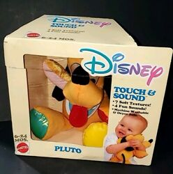 New In Package- Disney Touch And Sound Pluto Plush Stuffed Animal , Baby Toy