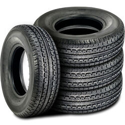4 New Durun Stc1 St 175/80r13 Load C 6 Ply Trailer Tires