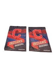 2 Cleveland Indians Baseball Mlb Yard/garden Flags/banners Two/pair 12 X 20