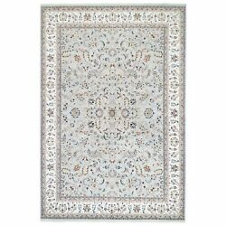 9and0399x14and0393 New Zealand Wool Light Gray Nain Hand Knotted 250 Kpsi Rug R63016