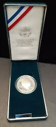 1990 Proof Eisenhower Silver Dollar Commem.-may Be Hazy-no Box Or Coa- Case Only