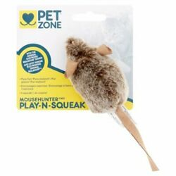 2 Pack Pet Zone Play-n-squeak Mousehunter Cat Toy