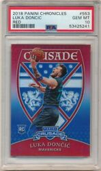 Luka Doncic 2018/19 Panini Chronicles Rookie Crusade Red Sp /149 Psa 10 Gem Mint