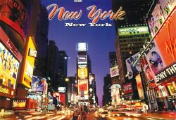 Postcard Neon Signs And Billboards Of Times Square, New York City, Ny - Used 2006