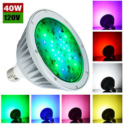 Color Changing,12 Volt Swimming Pool Light Bulb Led Lamp 40w For Pentair Hayward