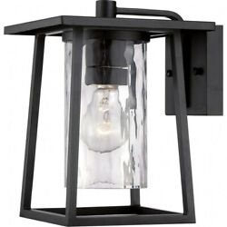 Lodge - 1 Light Wall Sconce - 10.5 Inches High Mystic Black Finish Outdoor
