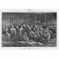 House Of Commons The Government Benches All Mps Named - Antique Print 1895