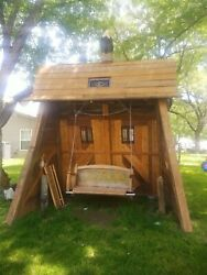 Hand Made Free Standing Porch Style Swing