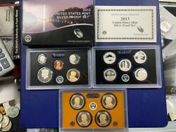 2013-s U.s. Silver Proof Set Complete 14-coin Set, With Box And Coa  Postpaid
