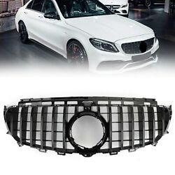 Front Grill Grille W/ Camera Fit Mercedes Benz W213 E-class Amg 2016-2019 Us
