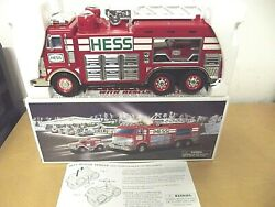 2005 Hess Emergency Truck With Jeep Rescue Vehicle Lights Sounds Collectable