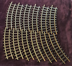Lgb Trains G Scale No 1100 Curved Track 12 Sections
