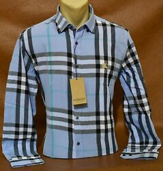 NWT Brand New Men#x27;s BURBERRY Long Sleeve Shirt Size Small to 2XL $62.90