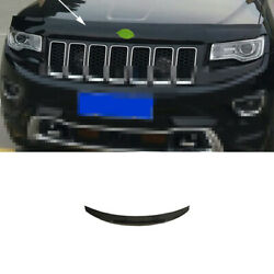 Black Abs Front Grille Grill Engine Hood Frame For Jeep Grand Cherokee 2014-2016
