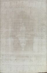 Antique Kirman Distressed Hand-knotted Muted Area Rug Evenly Low Pile Wool 10x13
