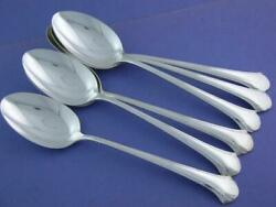 6 Sterling Towle Oval Soup / Place Spoons Chippendale No Mono