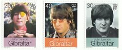 John Lennon Beatles Set Of 3 Collectible Postage Stamps