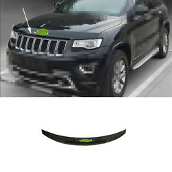 Black Abs Front Grille Grill Engine Hood Strip For Jeep Grand Cherokee 2014-2016