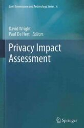 Privacy Impact Assessment Hardcover By Wright David Edt De Hert Paul E...