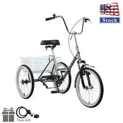 Adult Folding Tricycle Bike 3 Wheeler Bicycle Portable Tricycle 20 Wheels Gy Us