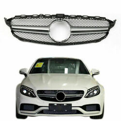 Grill Grille Gloss Black No Camera Hole Fit For 2015-2016 Benz W205 C250 300 Us