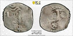 1716-p Y Bolivia 1 Real Cob Pcgs Vg08 Lotg975 Silver Calico Type 579