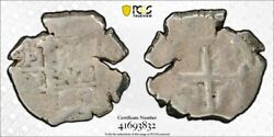1709-p Y Bolivia 1 Real Cob Pcgs Vg10 Lotg976 Silver Calico Type 567