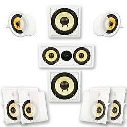 Hd728 Flush Mount In-wall/ceiling Home Theater 7.2 Surround 8-inch Speakers