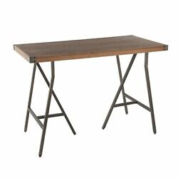 Carbon Loft Patti Industrial Counter Height Dining Table In Antique/brown Indust