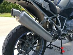 Round Muffler With Eg-abe For Bmw R1200 Gs + Adv. Lc 2013-18 Brushed