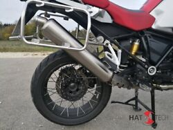 Round Muffler With Abe For Bmw R1200 Gs + Adv. Lc From 2013 Brushed M