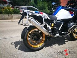 Round Muffler Exhaust With Abe For Bmw R1250gs + Adv Brushed With A