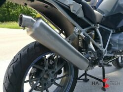 Round Muffler With Eg-abe For Bmw R1200 Gs + Adv. Lc 2013-18 Polished