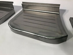 Ford F-100 Pickup Truck Steel Stepside Step Plates Set 1957-1960 Made In Usa