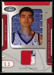 2002-03 Fleer Nba Hoops Hot Prospect /500 Jersey Patch 81 Yao Ming Rookie Rc