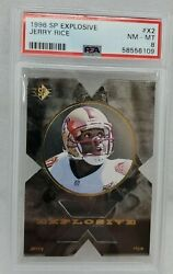 Psa 8 Nm-mt Jerry Rice X2 Sp Explosive 1996 Card Very Rare Upper Deck Graded