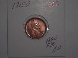 Wheat Penny 1915d Lincoln Cent Red/brown Bu 1915-d Sharp R/b Unc Lot 2