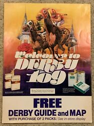 1983 Kentucky Derby Advertising Poster Kool Cigarettes Advertisement Ky Derby