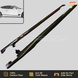 Scopione Carbon Fiber Add-on Side Skirts For Bentley 19-21 Continental Gt