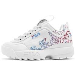 Fila Disruptor 2 Womenand039s Faux Leather Floral Print Chunky Athletic Sneakers